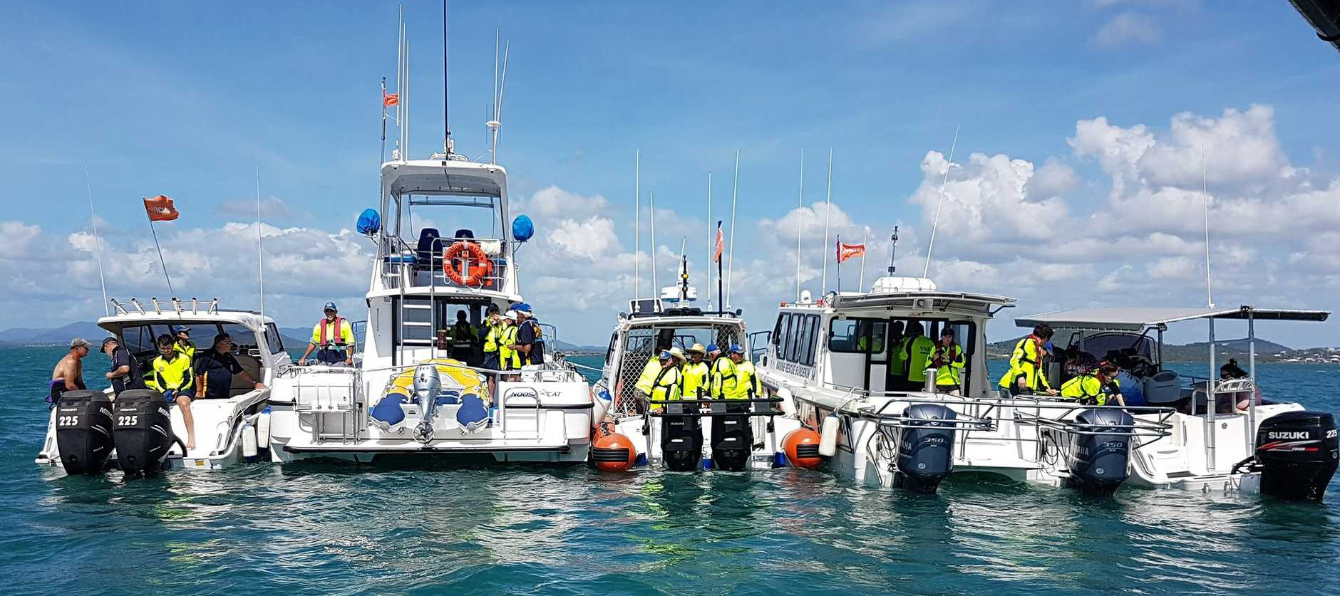 HELPING HAND: VMR services are integral to events such as the Bowen leg of the offshore super boats, as well as their daily help on marine assistance.