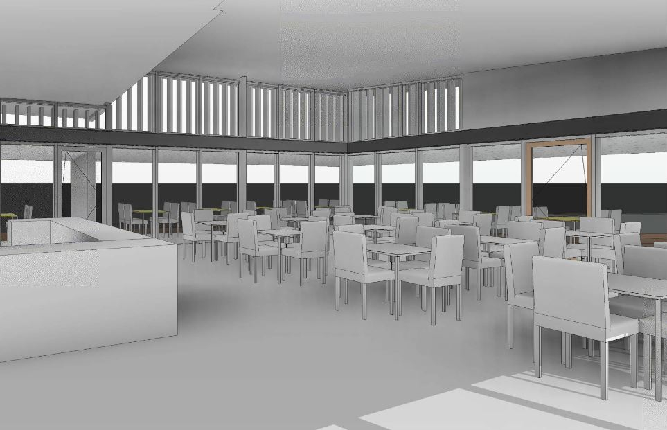 LUNCH: The render for the 100 seat cafe at the Flagstaff Hill development.