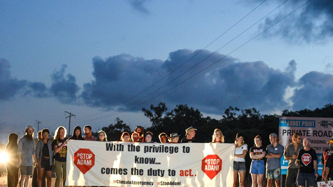 Two protestors were charged over protest activity near the Bowen Port on Tuesday.