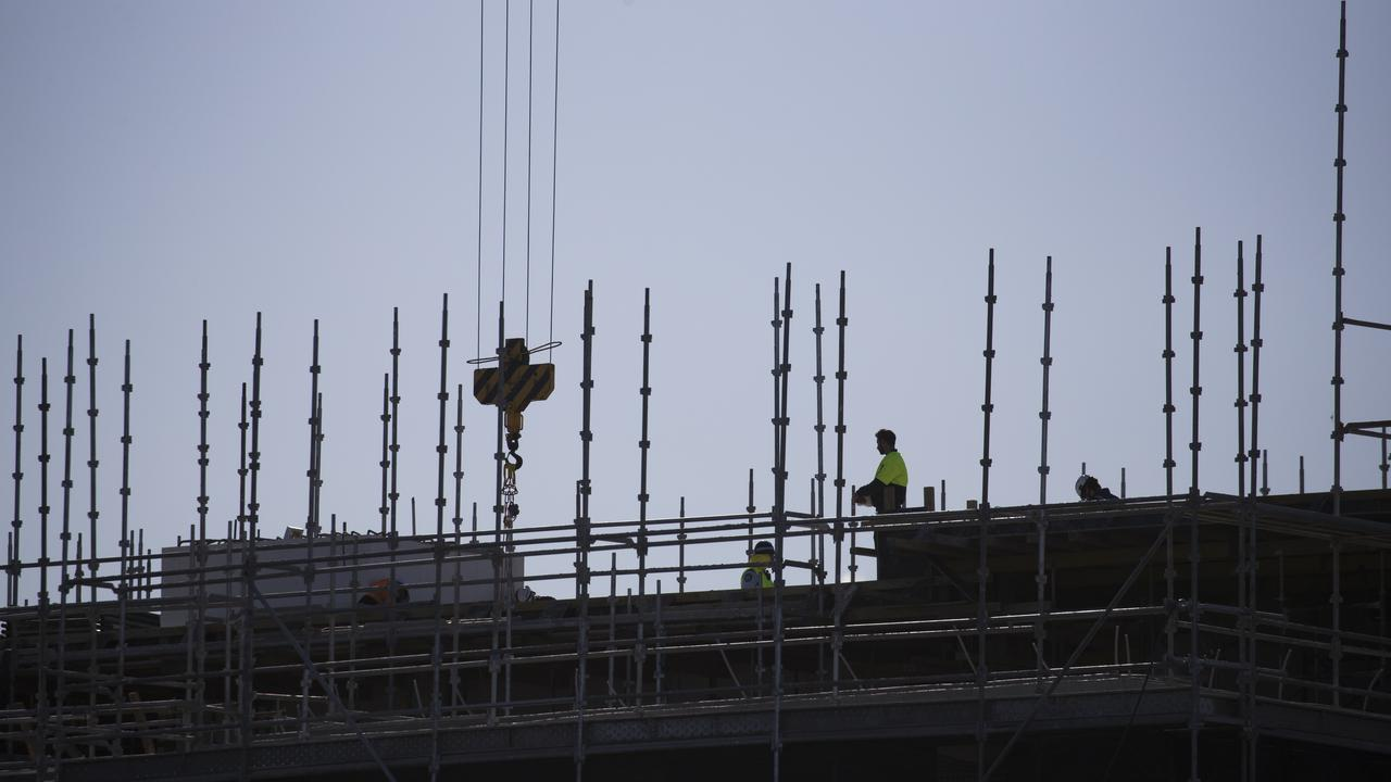 An alarming audit has found almost half of all scaffolds on construction sites have missing parts while on a third of sites unlicensed workers tampered with key components. Picture: Dylan Robinson