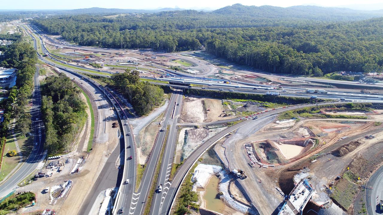 Bruce Highway upgrade at the Sunshine Motorway on-ramp.