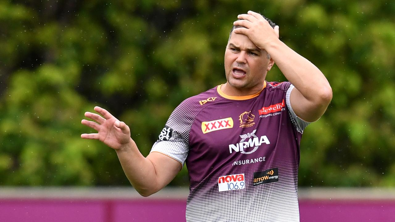 Broncos coach Anthony Seibold came underfire from Phil Gould. Picture: Darren England