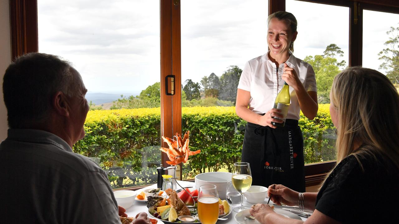 Rachel Waite serves customers at The Terrace Seafood Restaurant in Maleny. Photo: John McCutcheon / Sunshine Coast Daily