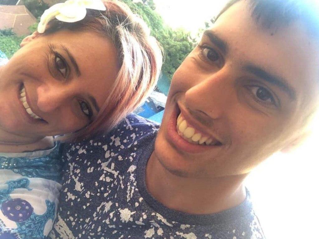 Christopher Cassaniti with his mum Patrizia. Picture: Facebook