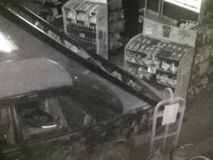 Southside servo ram-raid thief steals pack of cigarettes