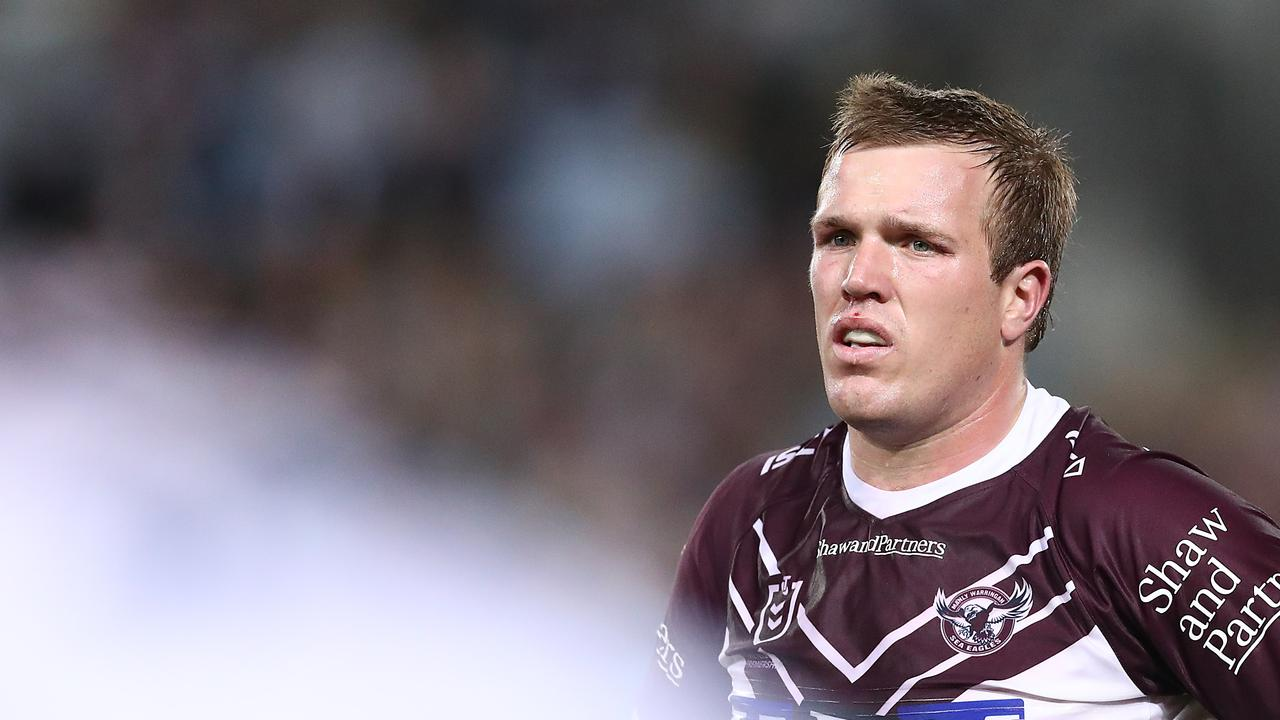 Jake Trbojevic impressed in the middle for Manly. (Mark Metcalfe/Getty Images)