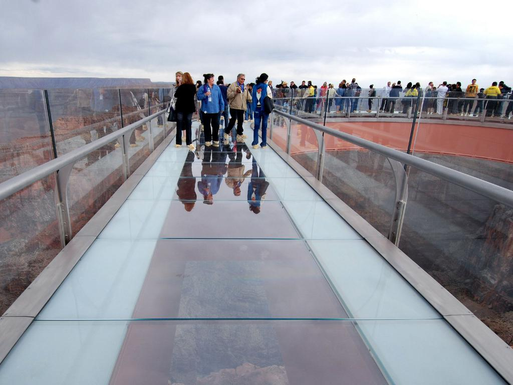 Arizona Skywalk, over the Grand Canyon. Picture: Veronica Matheson