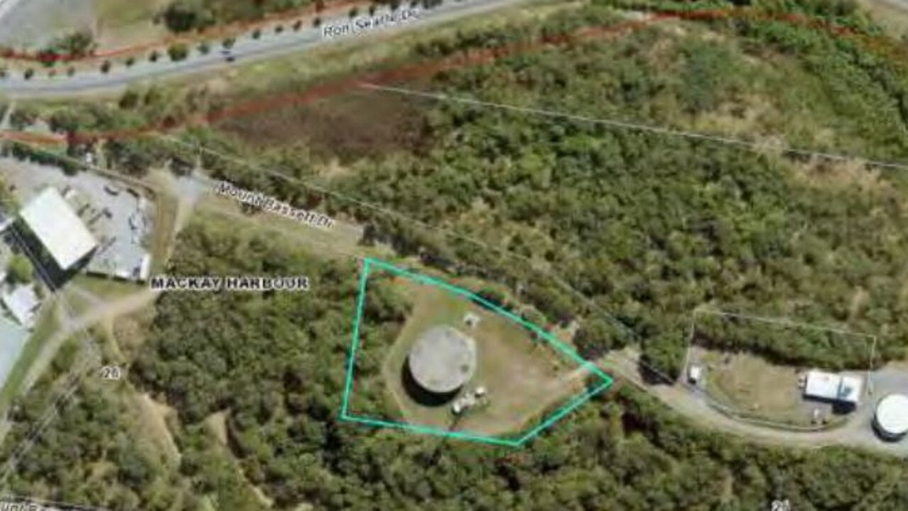 The location of the new Optus telecommunications tower, approved by Mackay Regional Council this week.