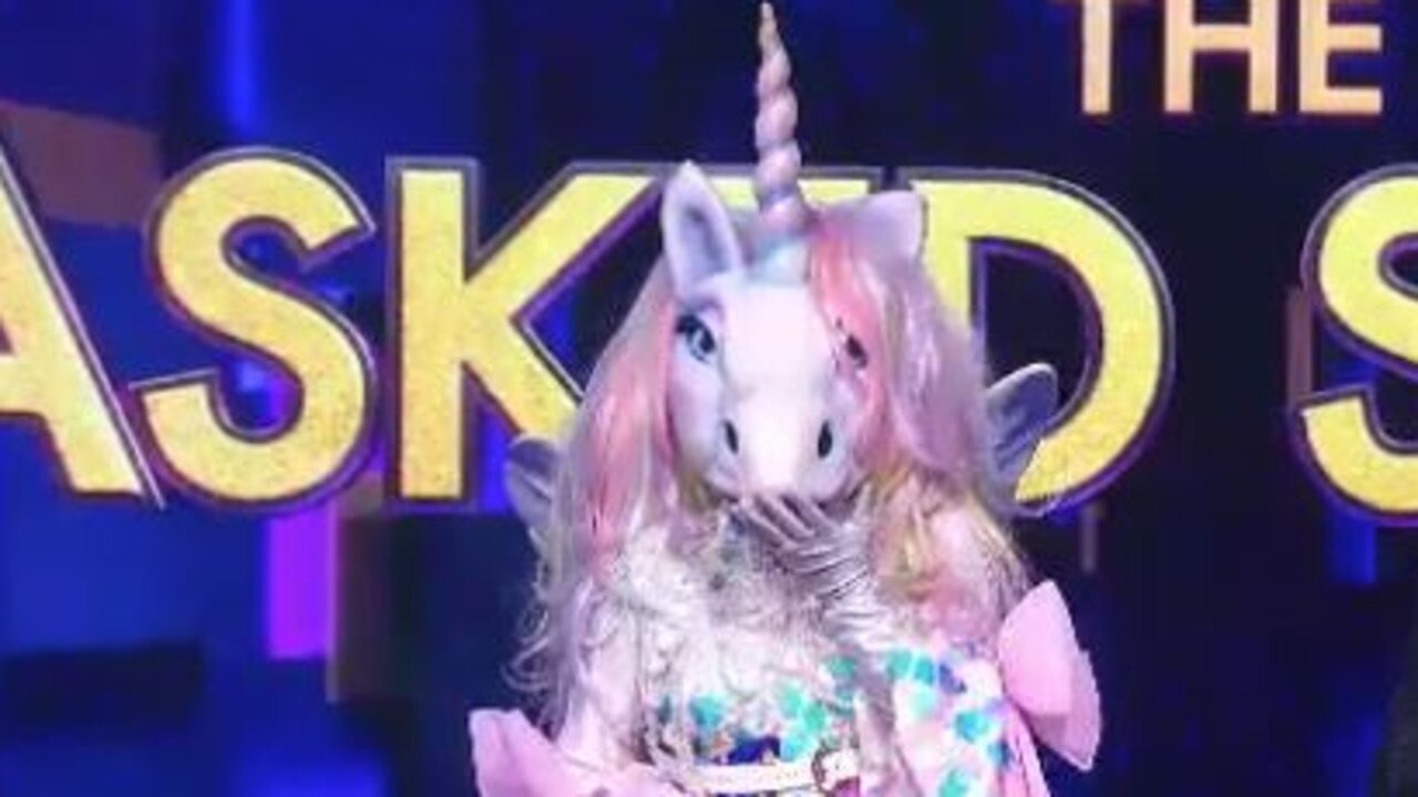 The judges seem to think The Unicorn is an international celebrity. Picture: Channel 10.