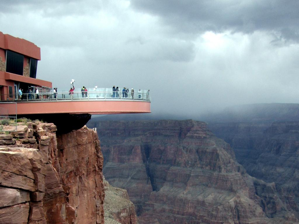 Grand Canyon Skywalk viewing platform over the canyon. Picture: Flickr/Ariane Middel