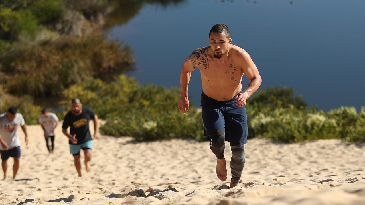 UFC fighter Robert Whittaker leading the way at Wanda. Picture: Brett Costello