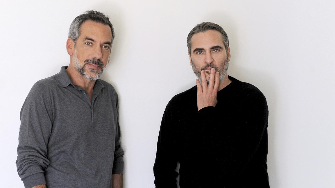 Director Todd Phillips (left) and actor Joaquin Phoenix. Picture: AP