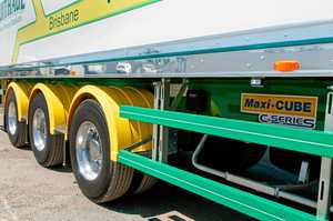 SAFETY FEATURE: The trucks and trailers that you do see with this protection on the nation's roads have been given the added safety features voluntarily by their different operators.