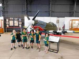 Little faces get big tour of RAAF Base
