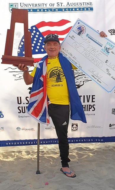 CHAMP: Mark Mono Stewart triumphs in the USA Adaptive surfing championships