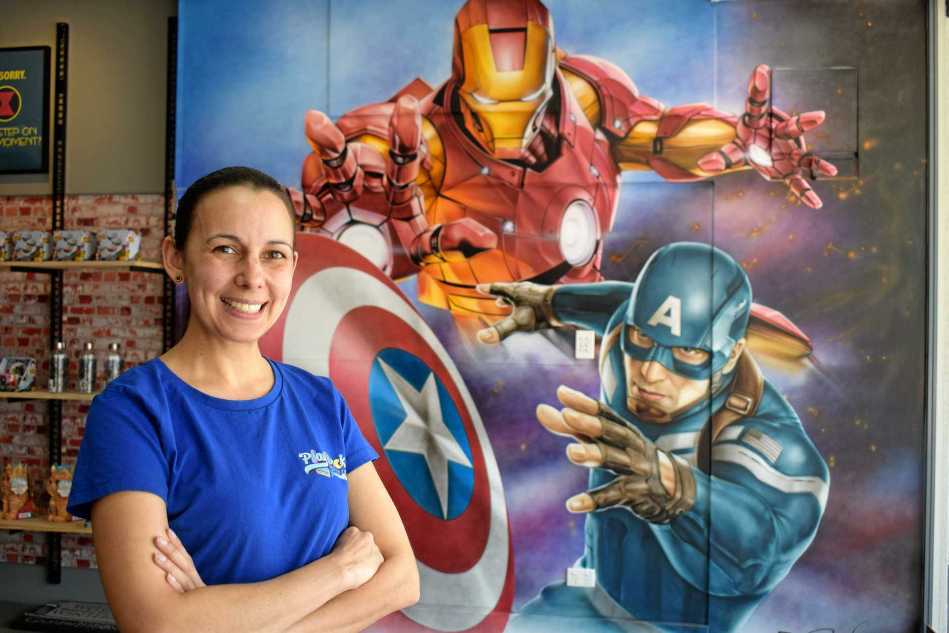 MARVEL-OUS: Aisha Belling is the owner of Play Back a new arcade and pop culture store right in the heart of Mary St.