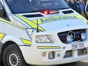 Two-car crash: Couple trapped