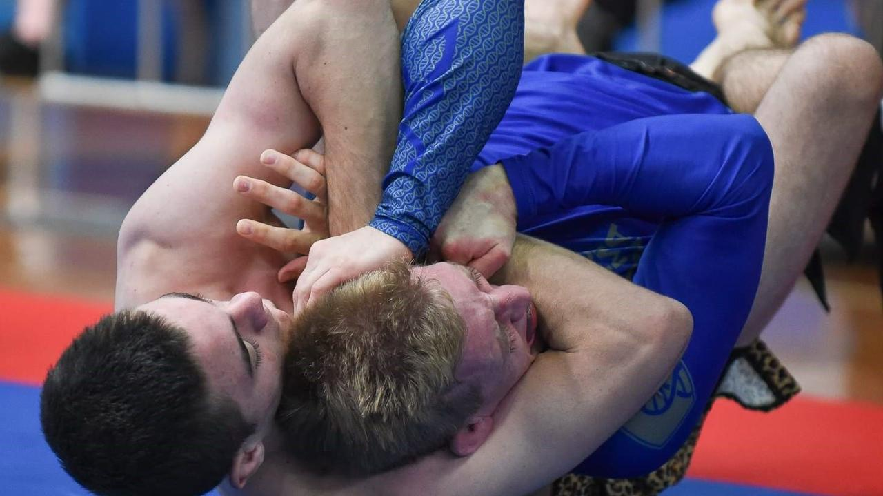 Harry Scott (right) competing in the ADCC Australian National Titles 2019.