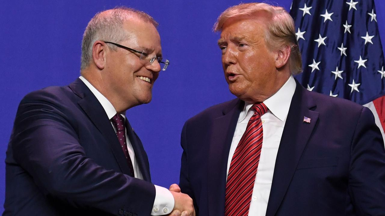 Scott Morrison is facing growing pressure to reveal more details of his phone conversation with Donald Trump over an investigation into Russian interference at the US federal election. Picture: Saul Loeb/AFP