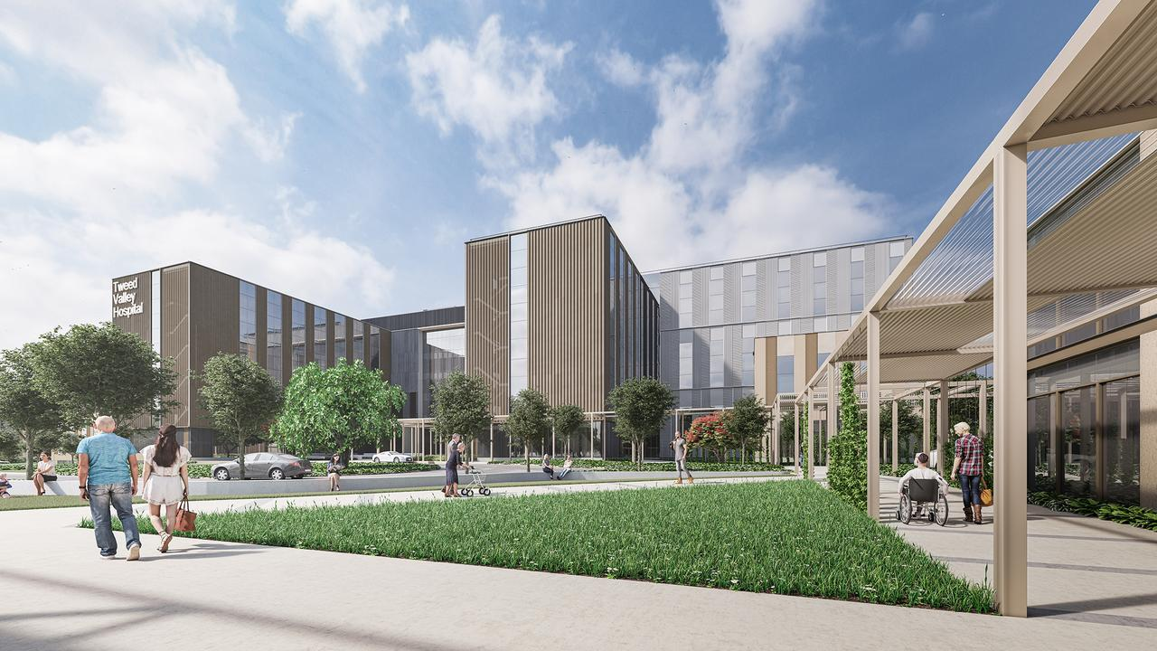 An artist's impression of the new Tweed Valley Hospital.