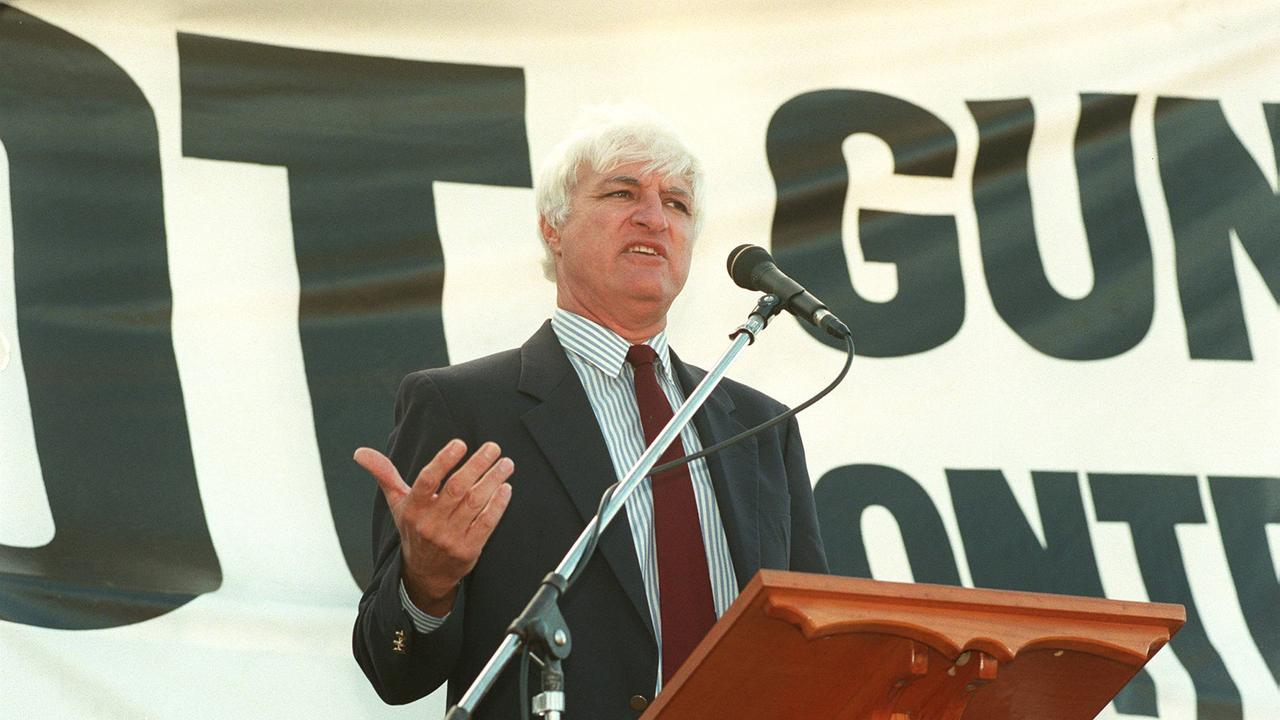 Bob Katter addressing pro gun rally in Queensland in 1996.