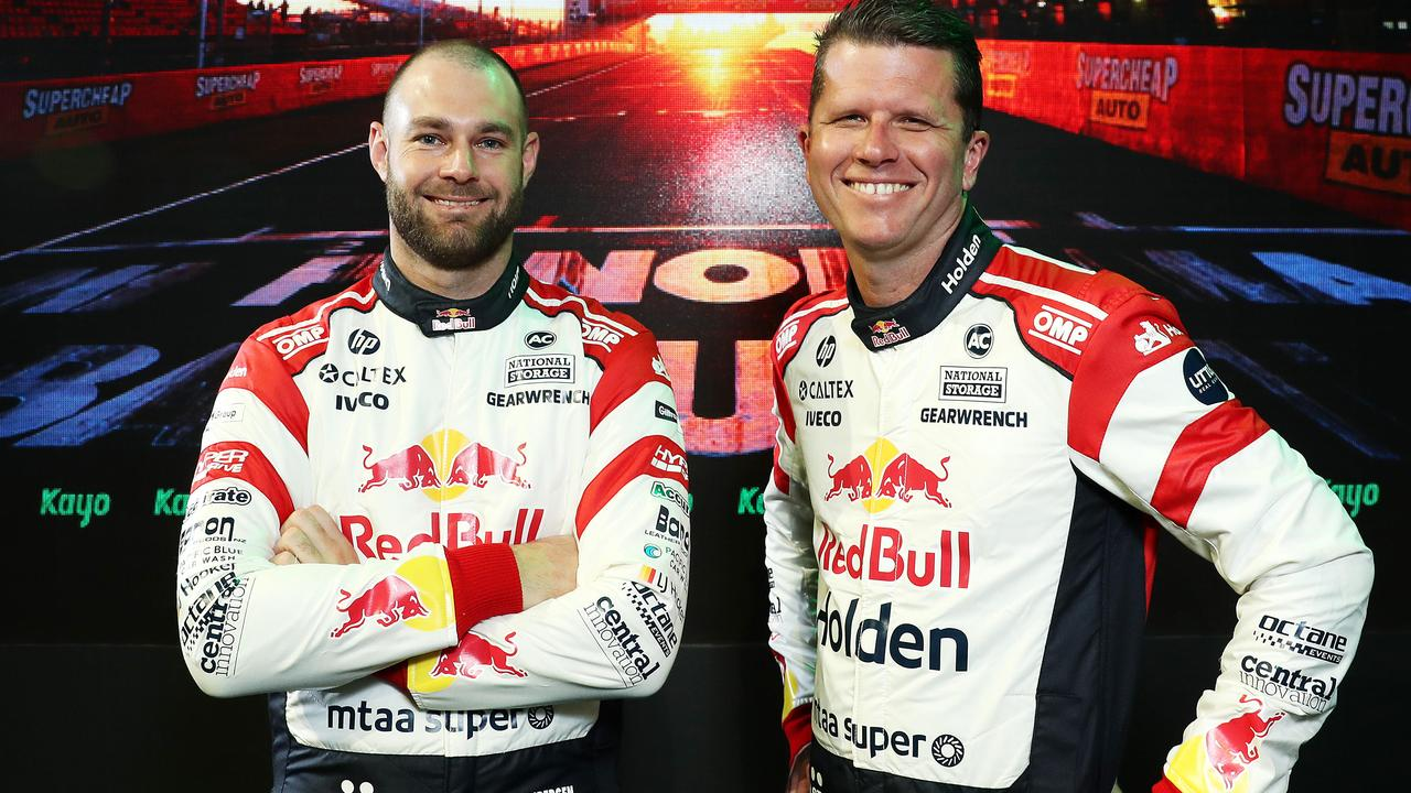 Redbull Holden Racing's Bathurst 1000 team Shane van Gisbergen and Garth Tander. Picture: Tim Hunter