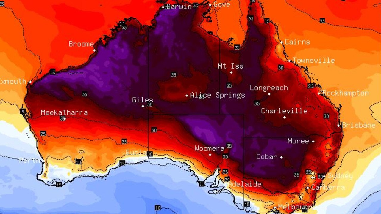 Temperatures are set to heat up as we head towards the weekend across much of central, southern and eastern Australia. Picture: BSCH.