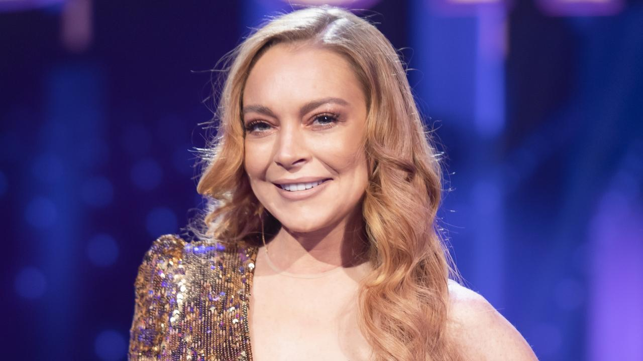 Lindsay Lohan on the set of The Masked Singer. Picture: Ten.