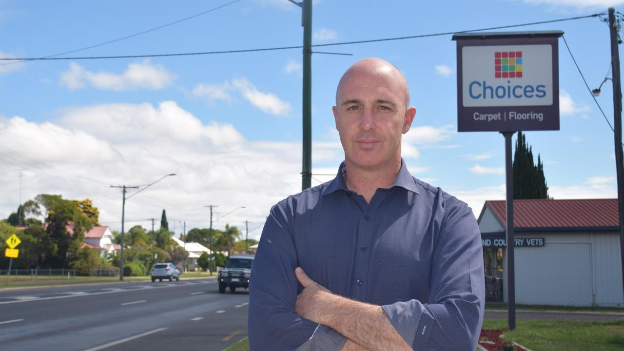 Choices Flooring Warwick owner Daniel Kuhn says those responsible for torching one of his business's work utes should come and do an honest day's work with his hardworking staff.