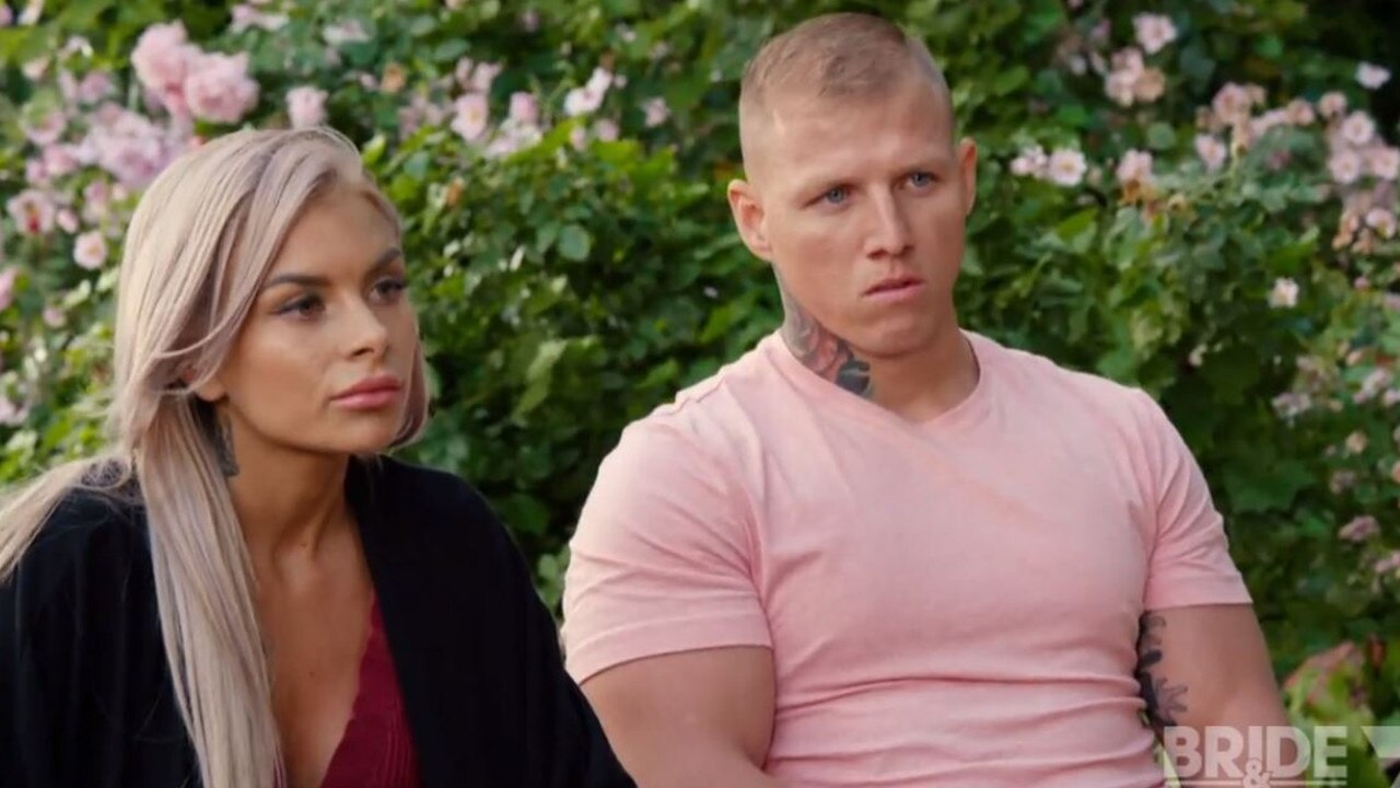 Codie-Lea and Nathan's sit-down with Laurelle went absolutely nowhere. Picture: Channel 7.