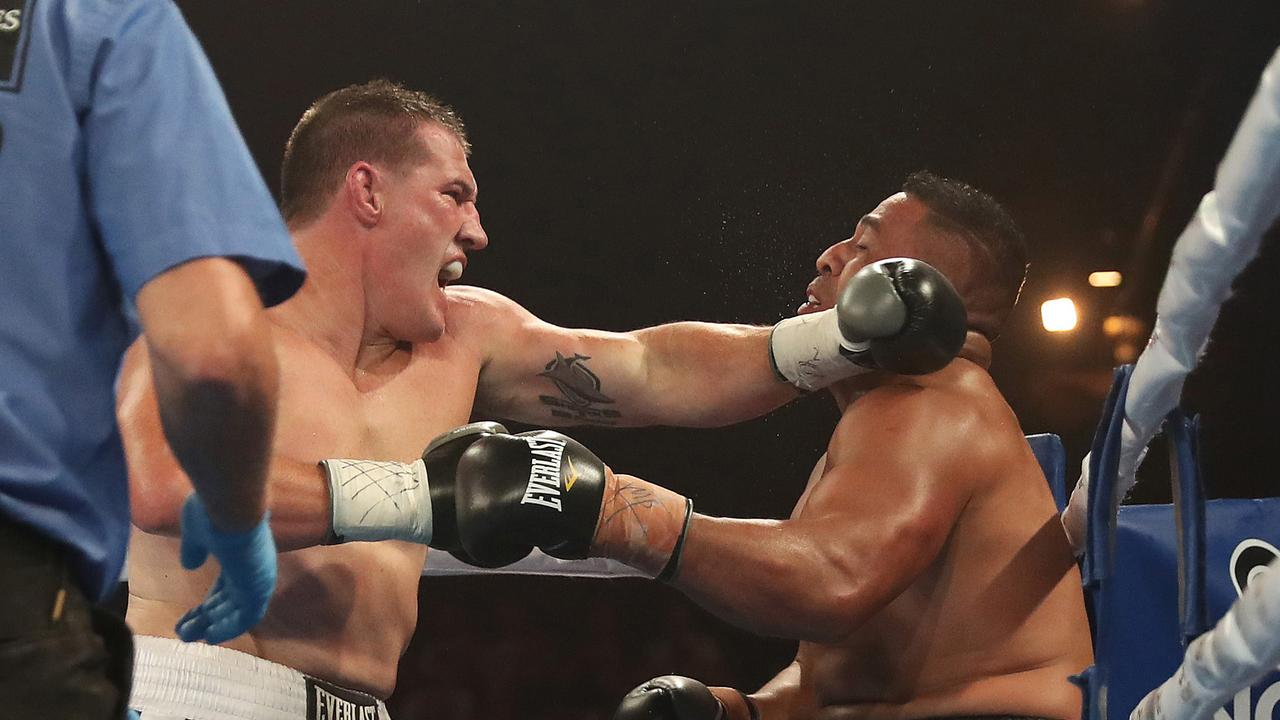 Paul Gallen has looked impressive in his nine boxing bouts to date. Picture: Brett Costello