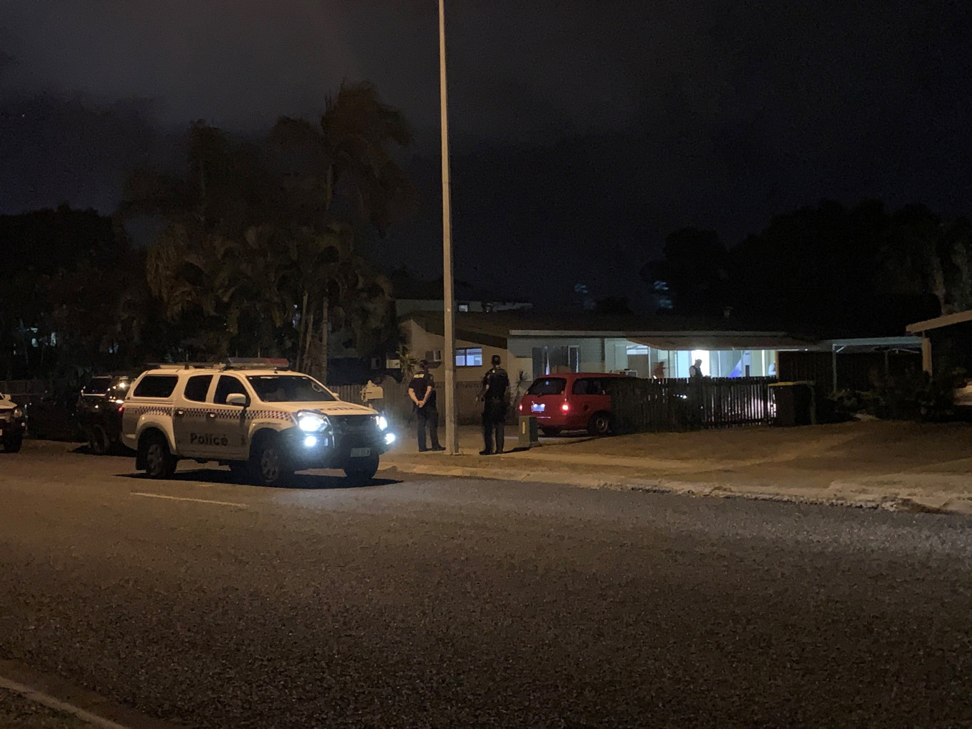 The scene of a suspected shooting at Andergrove.