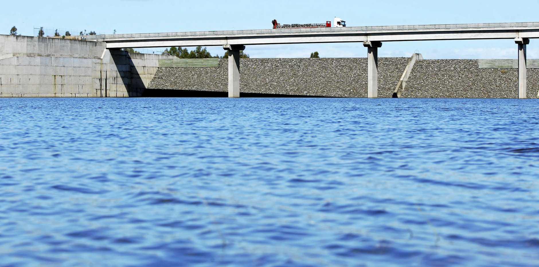 Wivenhoe Dam.