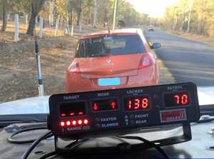 Frustration as yet another driver caught at high speeds