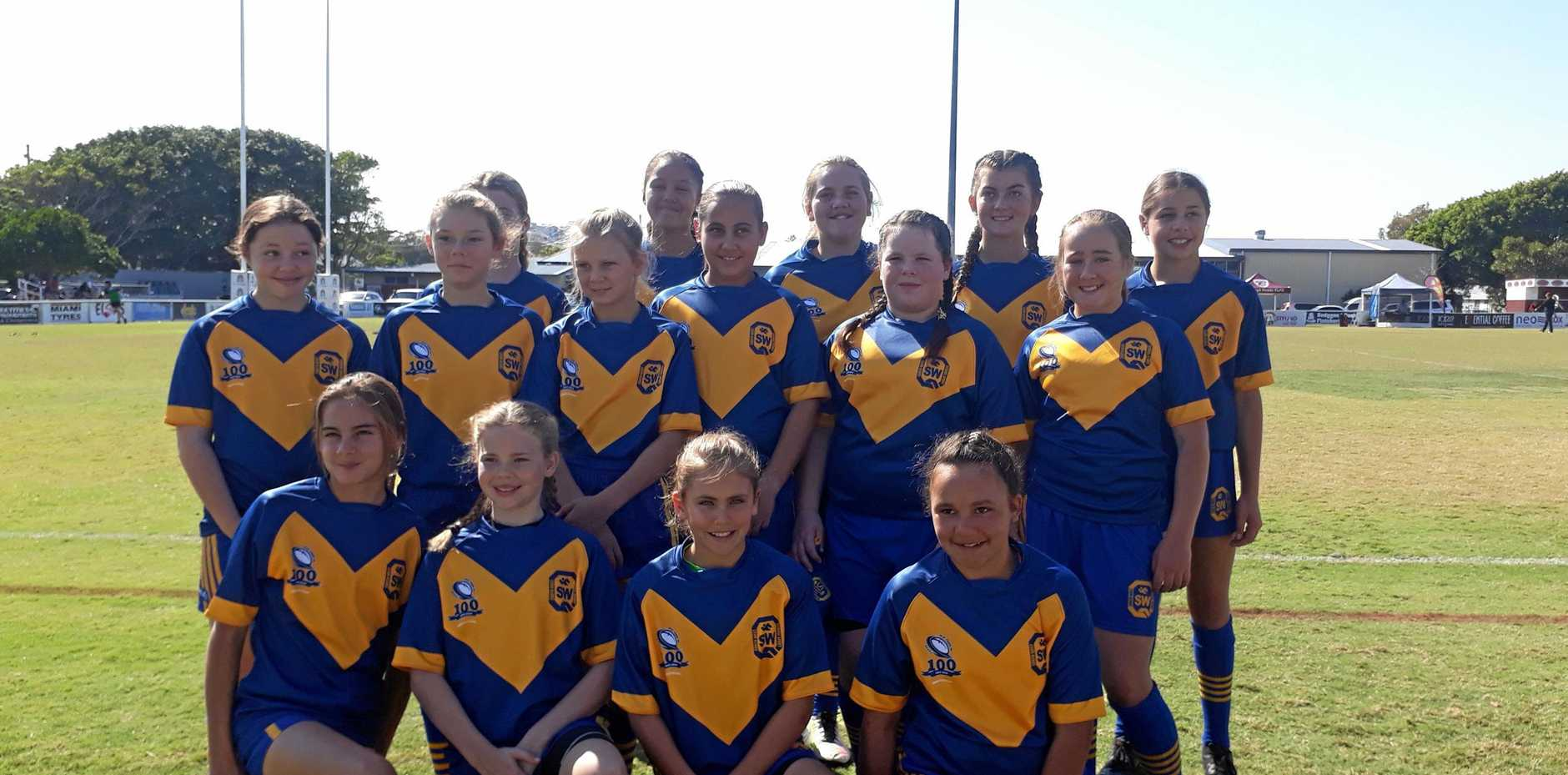 JOB WELL DONE: The South West girls (10-12 years) rugby league squad at the state carnival.