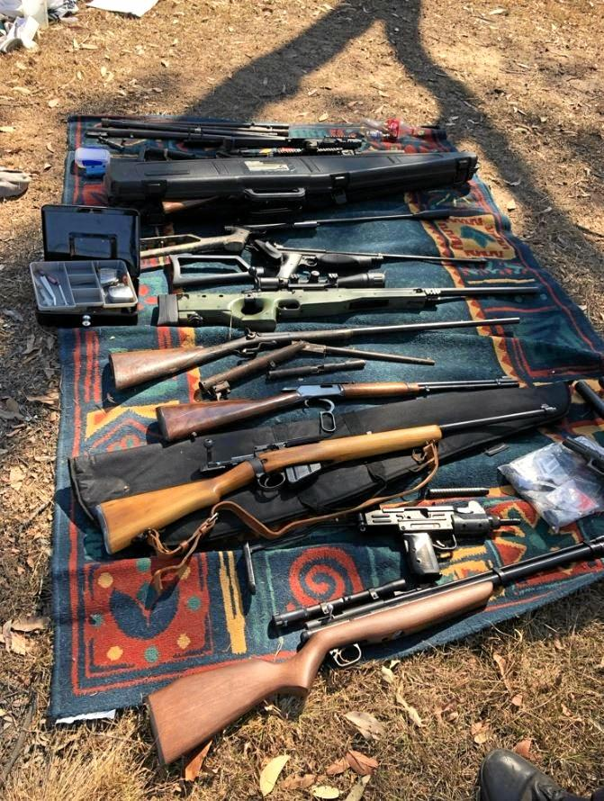 HAUL: Michael Hannan fronted court after police seized more than 40 firearms, illicit drugs and a hand grenade during a raid carried out on a Torbanlea property on September 13.