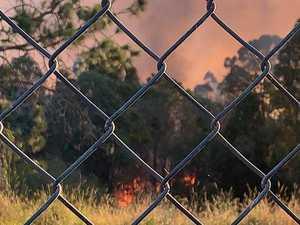 Grass fire jumps railways tracks at Casino