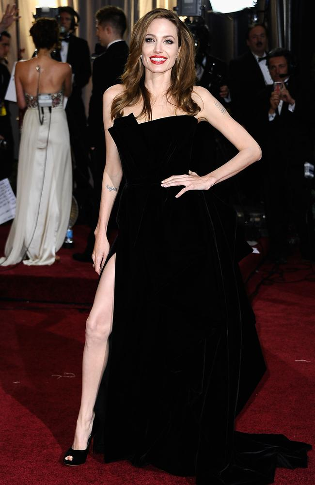 Putting her best foot forward at the 2012 Oscars. Picture: Frazer Harrison/Getty Images