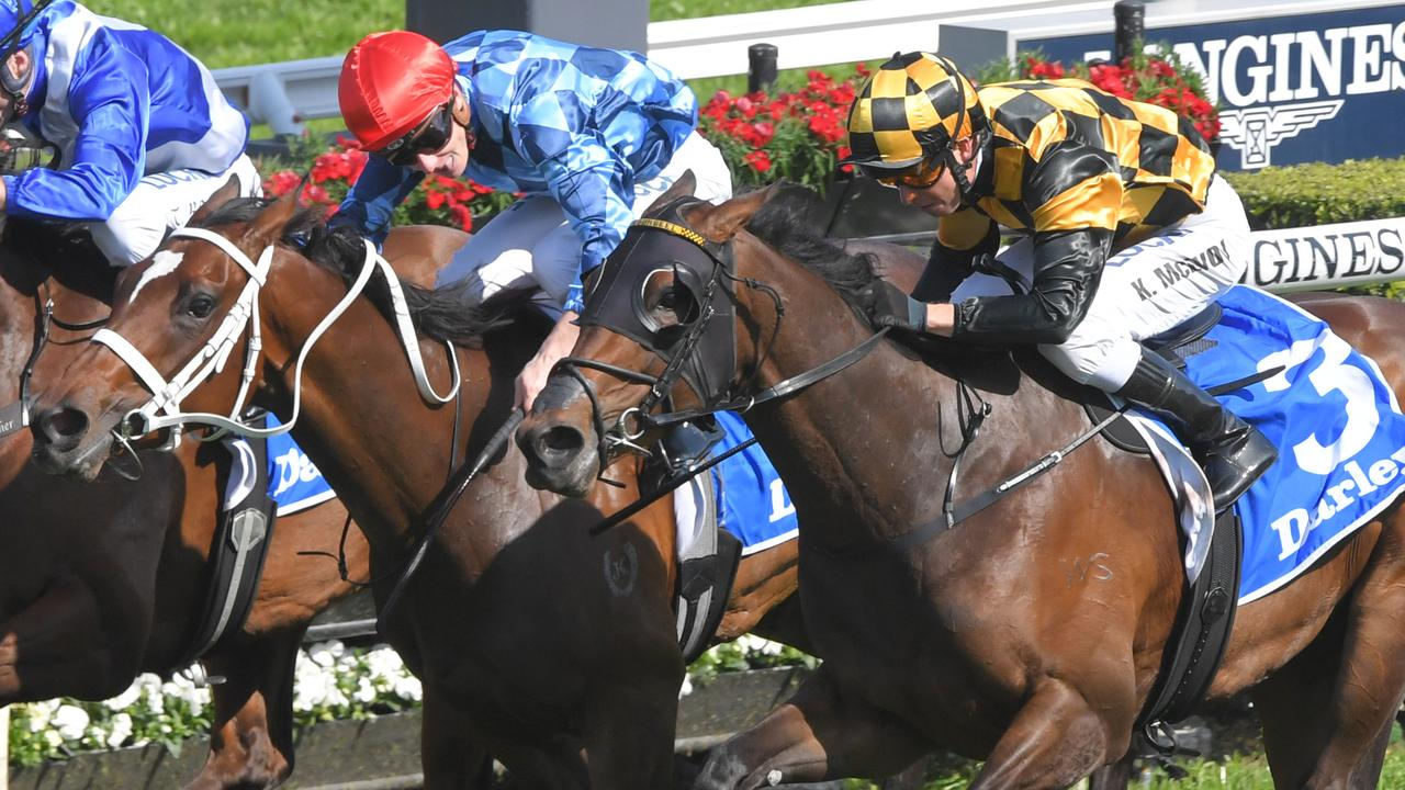 Funstar and Probabell will clash again in the Flight Stakes. Picture: AAP