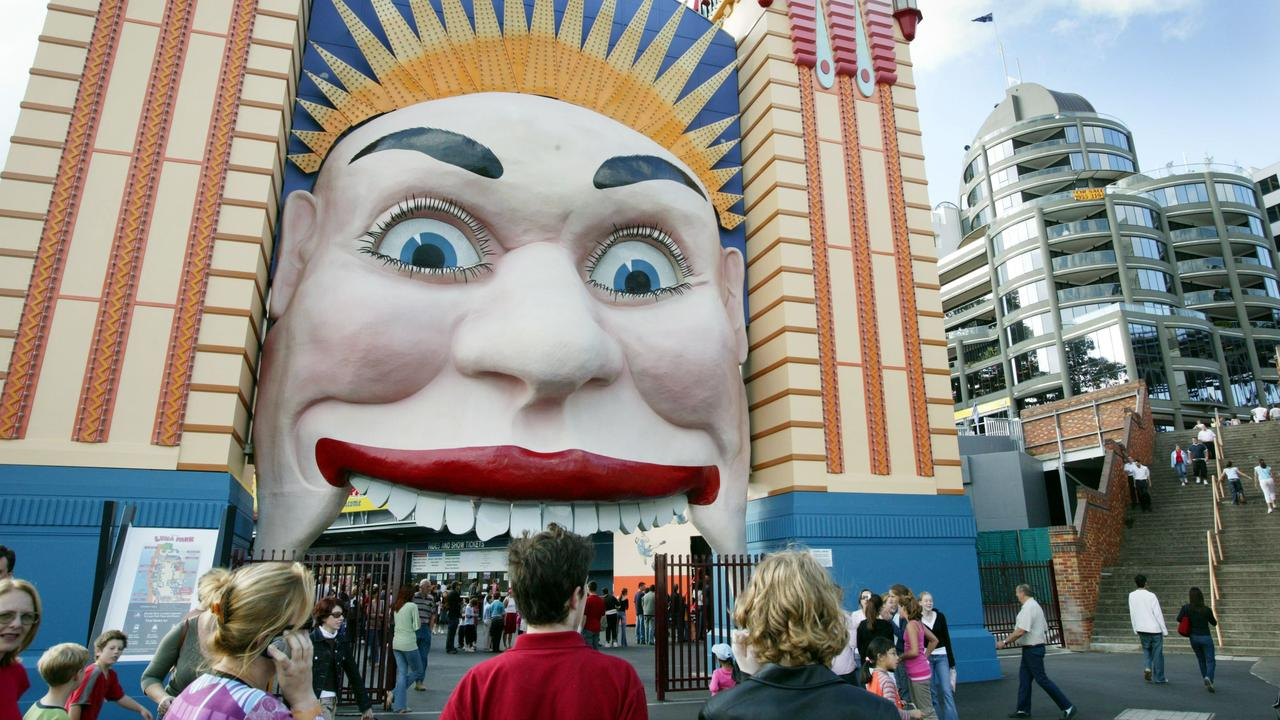 The famous entrance to Luna Park at Milsons Point.