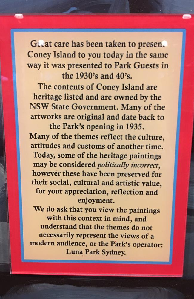 A sign accompanying the exhibit.