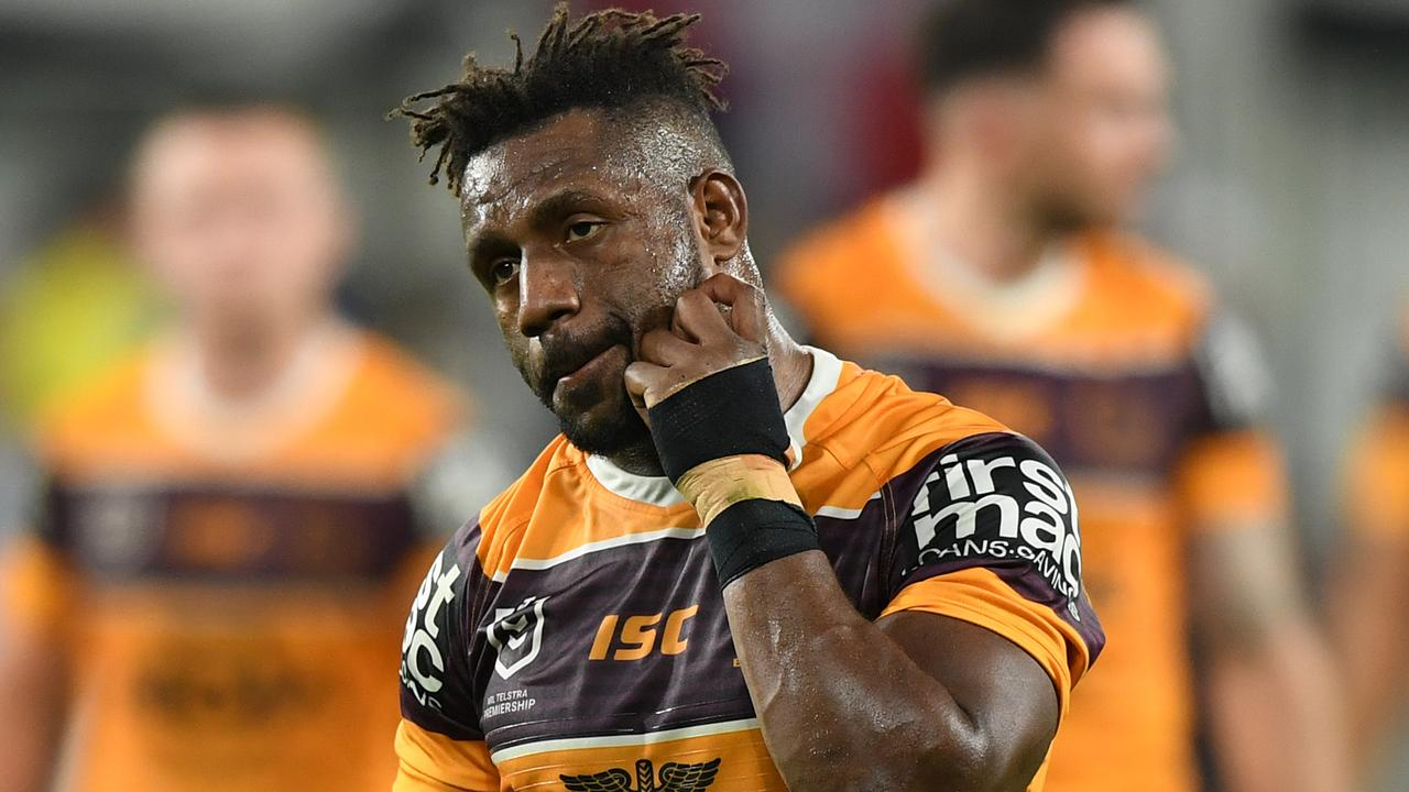James Segeyaro's time in Brisbane appears up. Picture: Joel Carrett