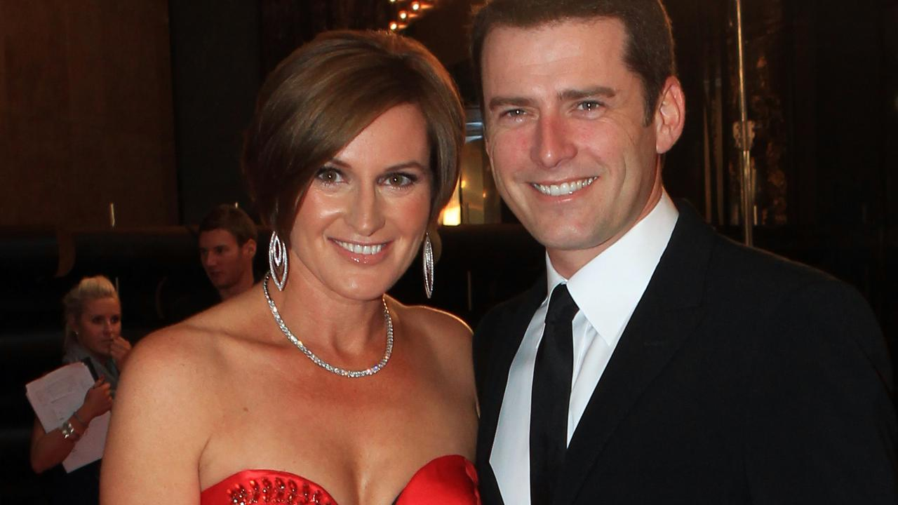 Cassandra Thorburn and Karl Stefanovic at the 2011 Logies.