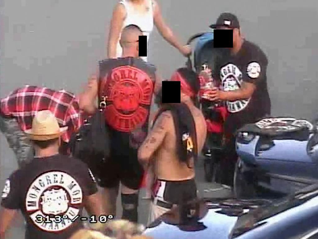 Mongrel Mob gang members at Southport