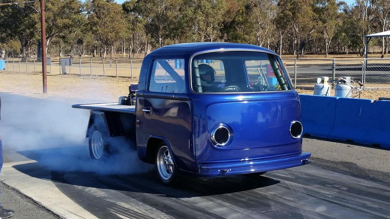 Louis Van Slobbe will drive his 1975 Kombi SC Supercharged V6 at VW Warwick this weekend.
