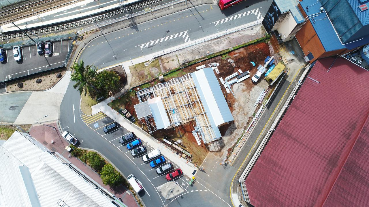 Aerial shot of the Nambour Heritage Tramway building under construction. Photo Patrick Woods