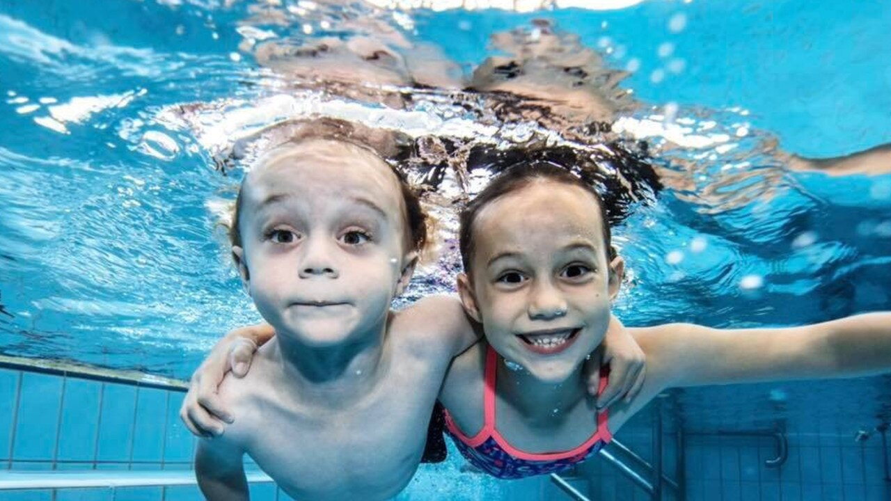 Lucas and Isabella Carmichael from John Wallace Swim School love learning to swim. Photo: Contributed