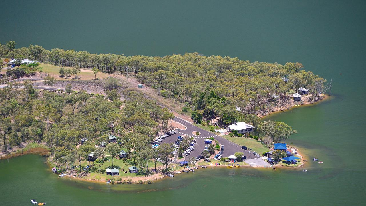 Lake Awoonga from the air.