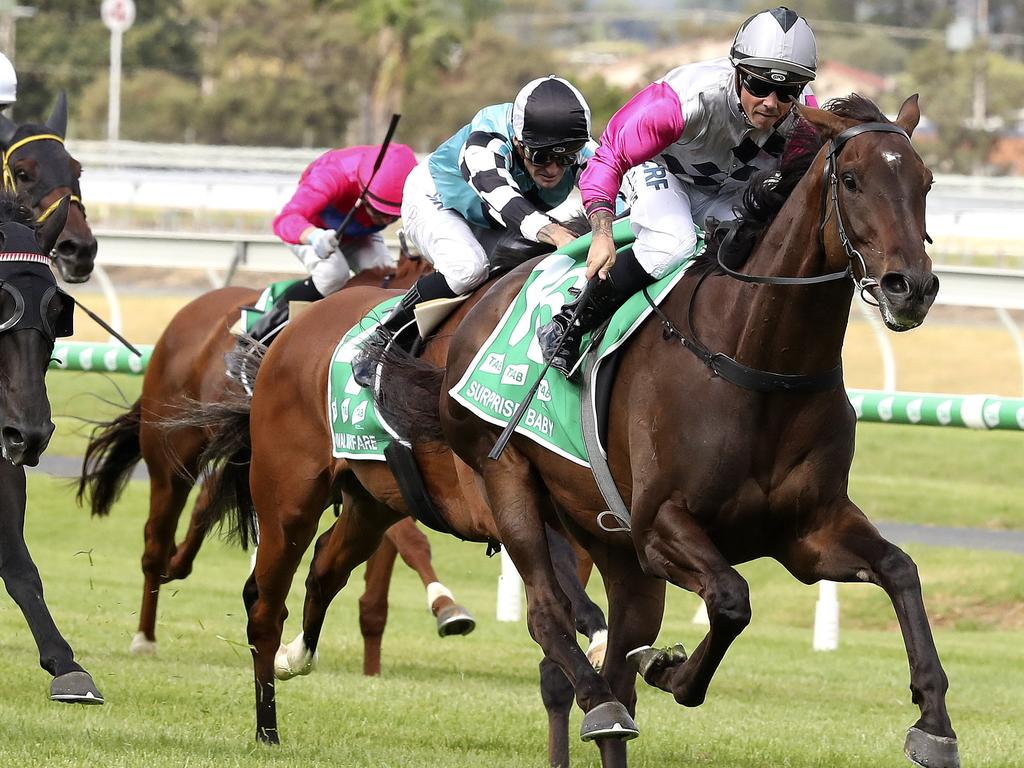Surprise Baby gets the perfect opportunity to win through to the Melbourne Cup.