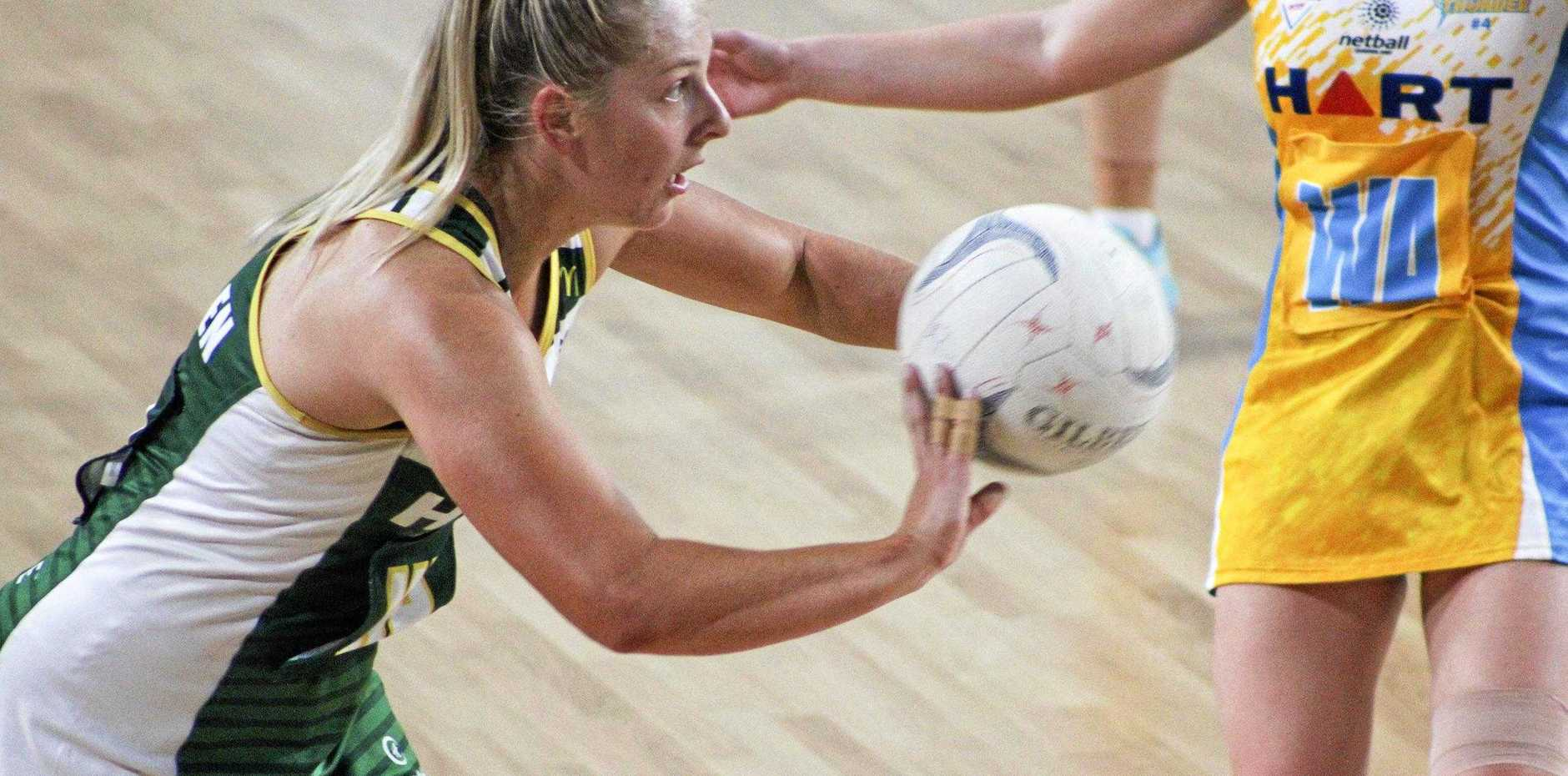 MID-COURT EXPERIENCE: Jets Sapphire Series co-captain Stephanie O'Brien believes both club sides can win Sunday's preliminary finals at the Queensland State Netball Centre.